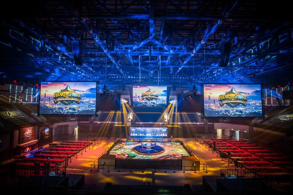 Blizzard Arena recebe o Campeonato Mundial de Hearthstone — Foto: Divulgação/Blizzard