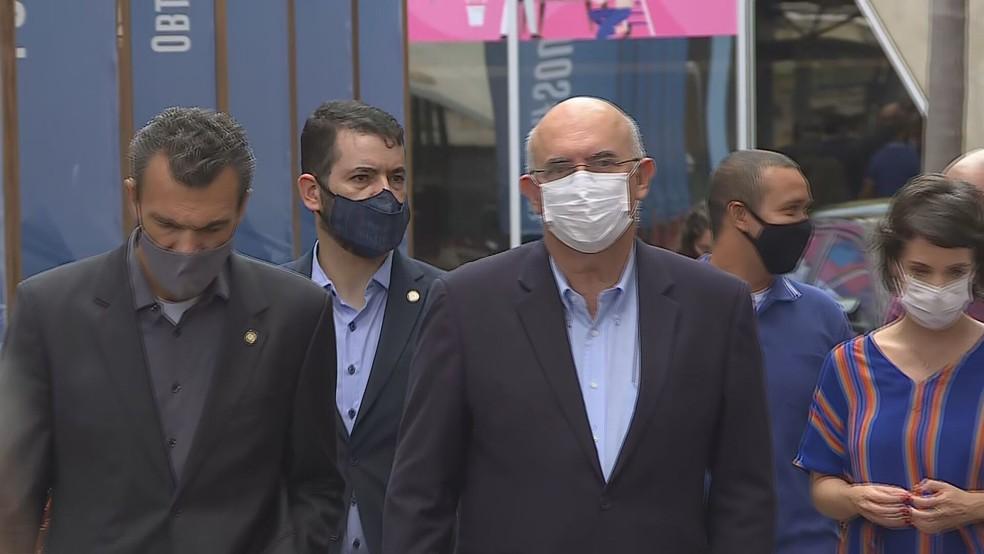 O Ministro da Educação, Milton Ribeiro, esteve em Belo Horizonte para uma reunião om integrantes do Governo Estadual. — Foto: TV Globo