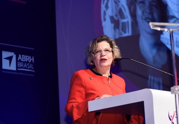 Nadine Gasman, do ONU Mulheres, durante o CONALIFE (Foto: Divulgação)