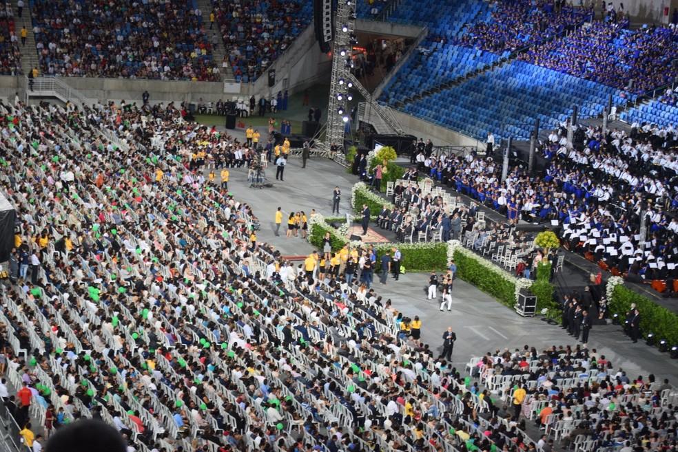 Igreja Assembleia de Deus reúne 30 mil pessoas em culto de comemoração do centenário no RN (Foto: Richardson Hill)