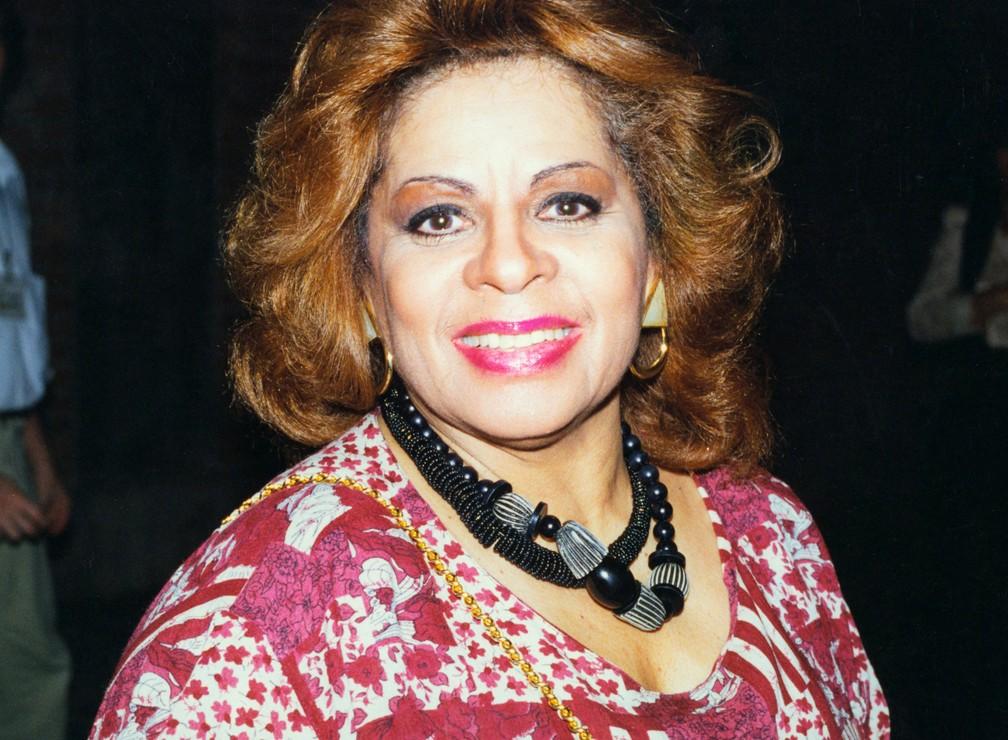 Cantora Angela Maria, em foto de 19 de maio de 1994 — Foto: Gilda Mattar/Estadão Conteúdo
