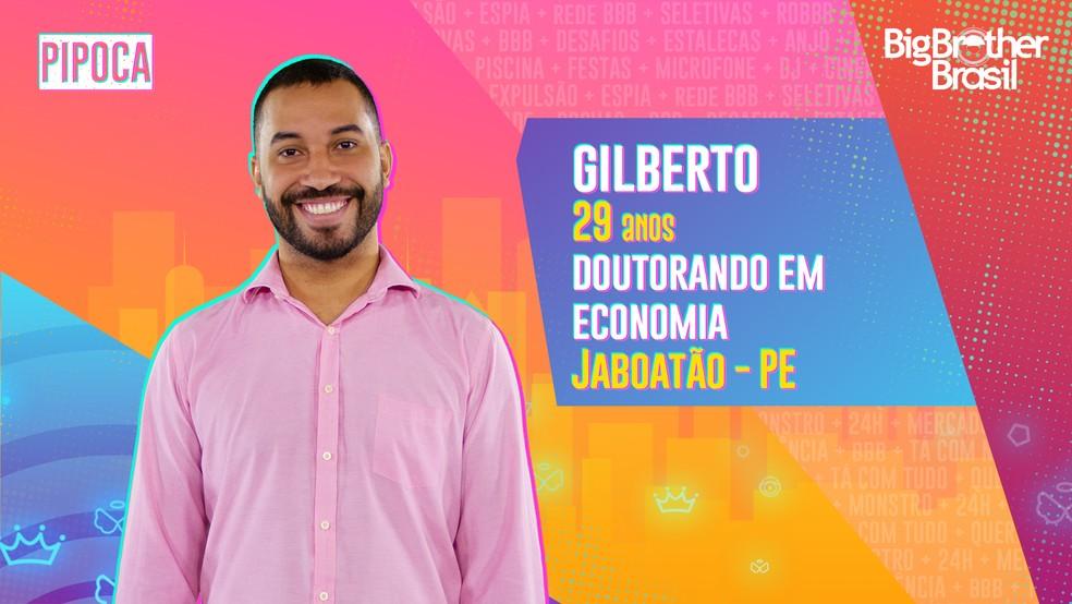 Gilberto, participante do BBB — Foto: DIvulgação