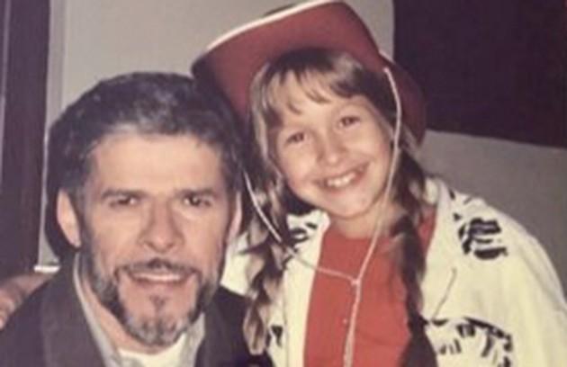 A atriz ao lado de José Mayer (Foto: Reprodução/Instagram)