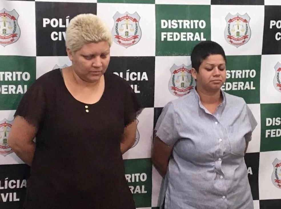 Mulheres suspeitas de matar e esquartejar menino de 9 anos no DF — Foto: PCDF/Divulgação