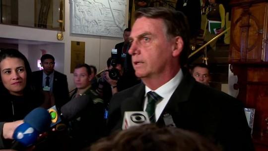 'Esperamos que rapidamente mude o governo da Venezuela', diz Bolsonaro