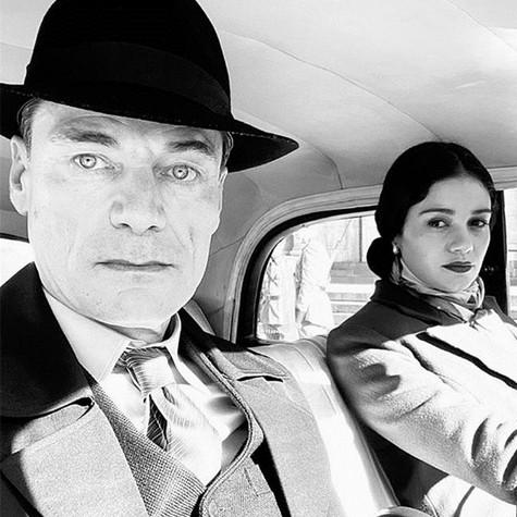 Stefan Weinert e Sophie Charlotte nas gravações de 'O anjo de Hamburgo' (Foto: Reprodução/ Instagram)