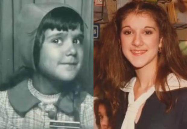 Céline Dion em fotos antigas (Foto: Reprodução)