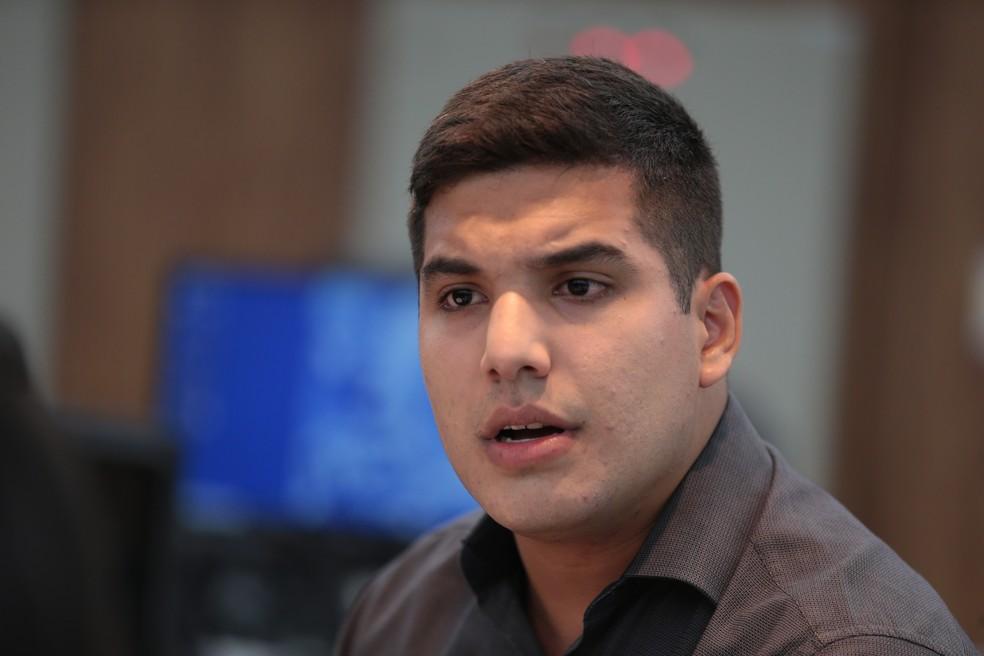 Youtuber André Fernandes foi o deputado estadual mais jovem eleito no país — Foto: José Leomar/Agência Diário
