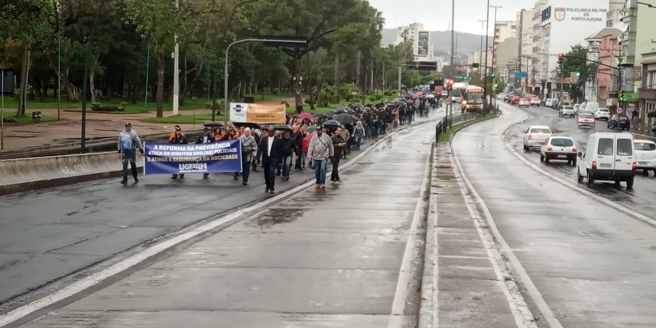 Polícia Civil, BM e bombeiros protestam contra Reforma da Previdência e atraso de salários - Notícias - Plantão Diário