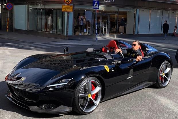 Ferrari Monza SP2 ibrahimovic  (Foto: Instagram/Ferdinando Piacezzi)