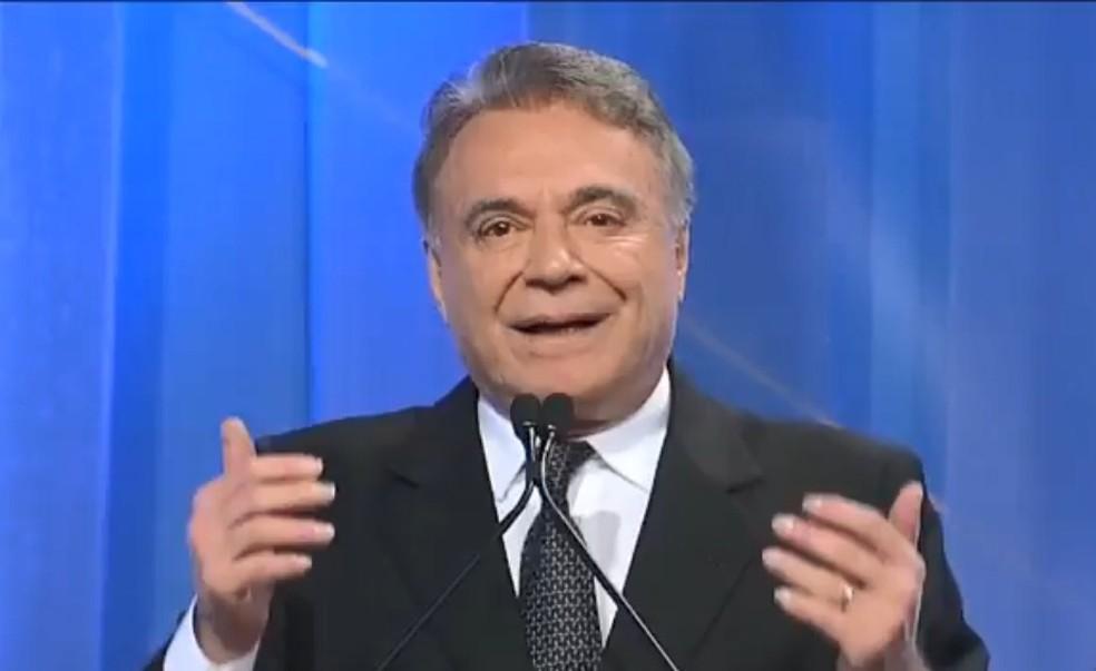 O presidenciável Alvaro Dias (Podemos) no debate da RedeTV! (Foto: Reprodução/RedeTV!)