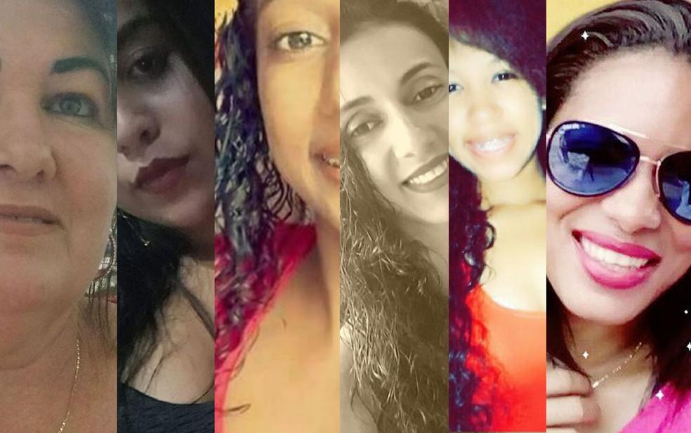 Dez mulheres foram mortas em 39 dias de 2018: As vítimas tinham entre 15 até 45 anos (Foto: G1/Montagem)