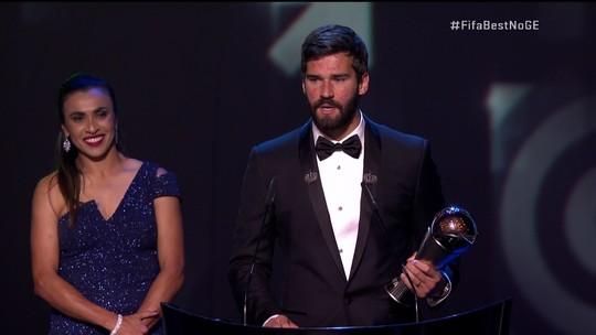 Alisson é o melhor goleiro do mundo em cerimônia da Fifa