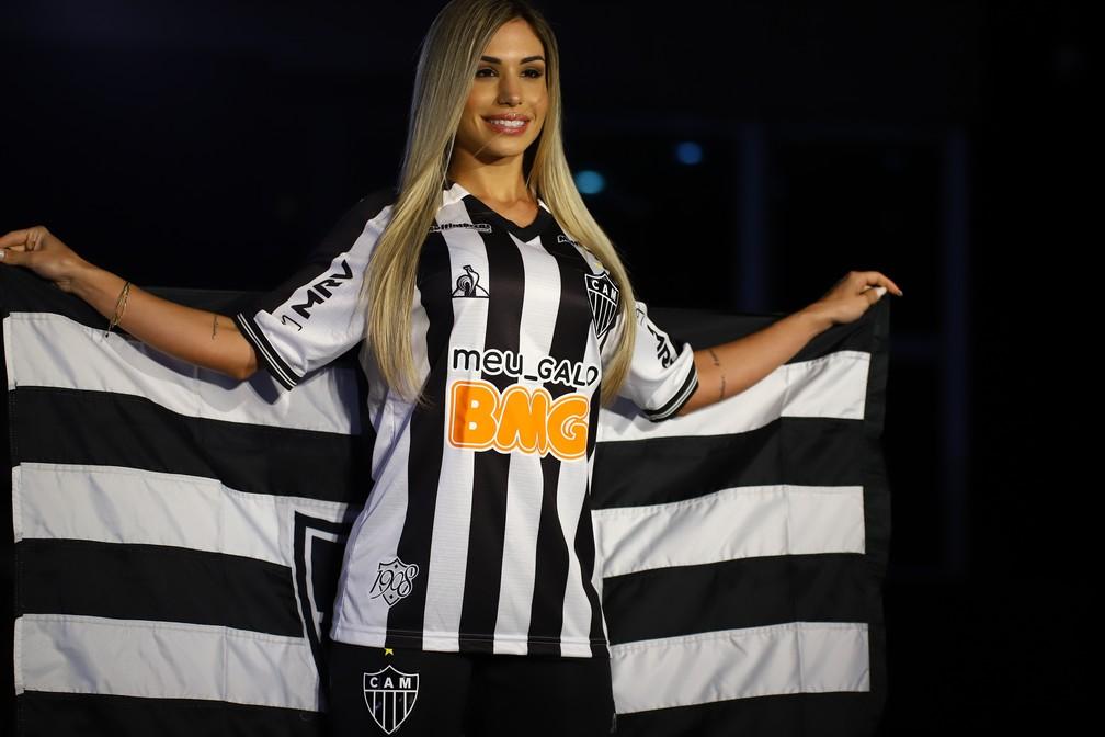 Nova camisa do Atlético assinada pela Le Coq — Foto: Bruno Cantini/Atlético-MG