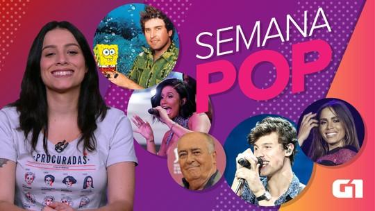 Semana Pop tem fã famoso de maconha e adeus a Bertolucci e criador do Bob Esponja; ASSISTA