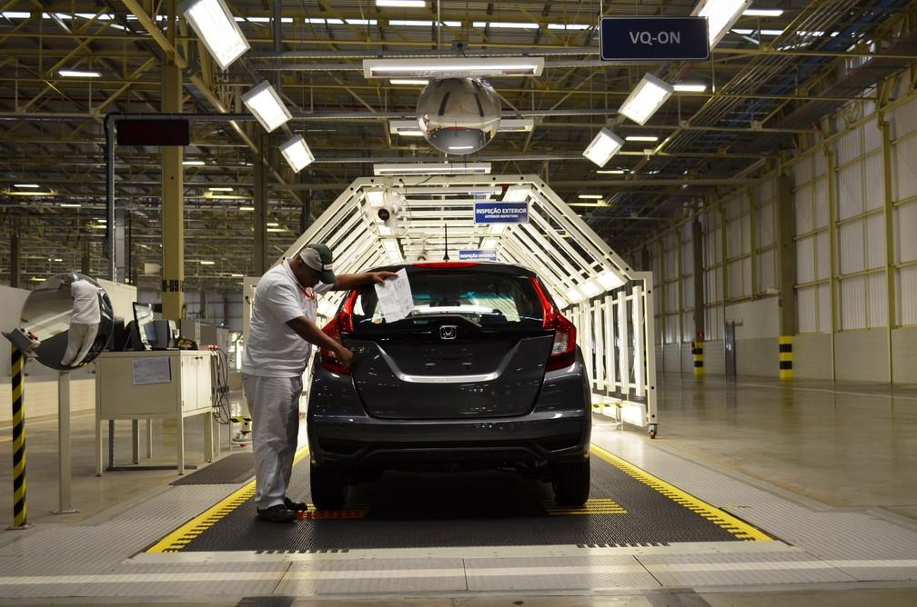 Fábrica Honda Itirapina (SP) em 2019 — Foto: Gabrielle Chagas/G1