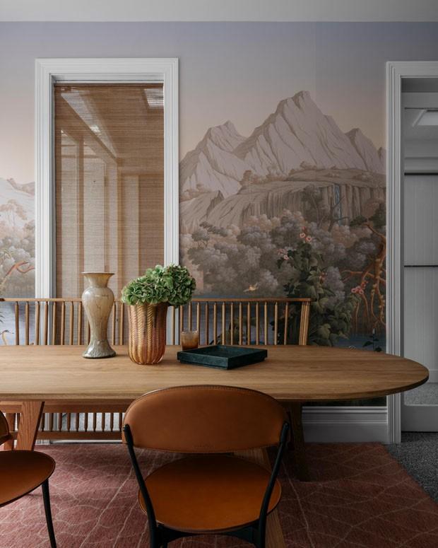 Décor do dia: sala de jantar com papel de parede (Foto: Felix Forest)