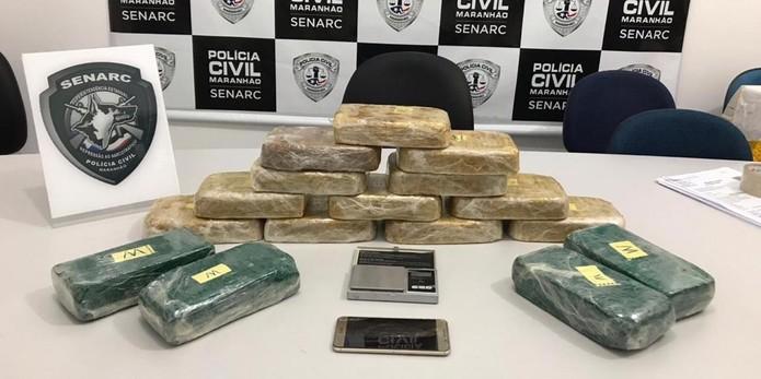 Crack e cocaína foram apreendidos em Presidente Dutra, a 306 km de São Luís — Foto: Divulgação/Polícia Civil