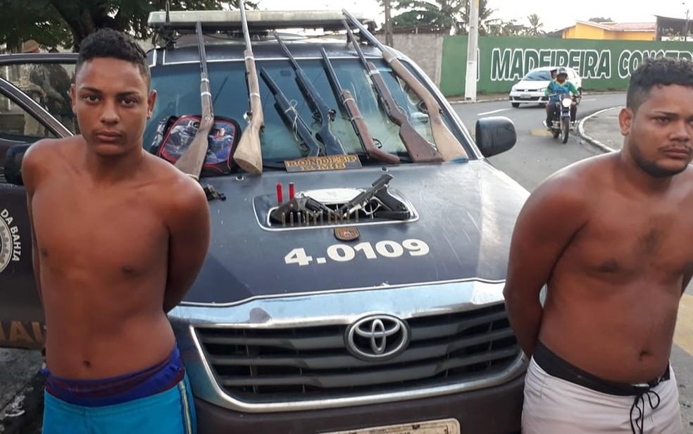 Dois irmãos foram presos e um deles morreu em confronto com PM (Foto: Divulgação/ SSP-BA)
