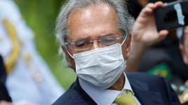 Blog: Guedes é o único de jantar a manter máscara (Adriano Machado/Reuters)