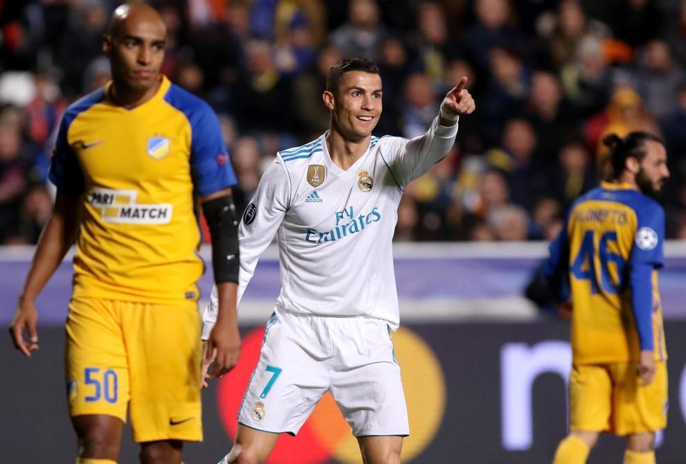 Cristiano Ronaldo gol Real Madrid Apoel (Foto: EFE)