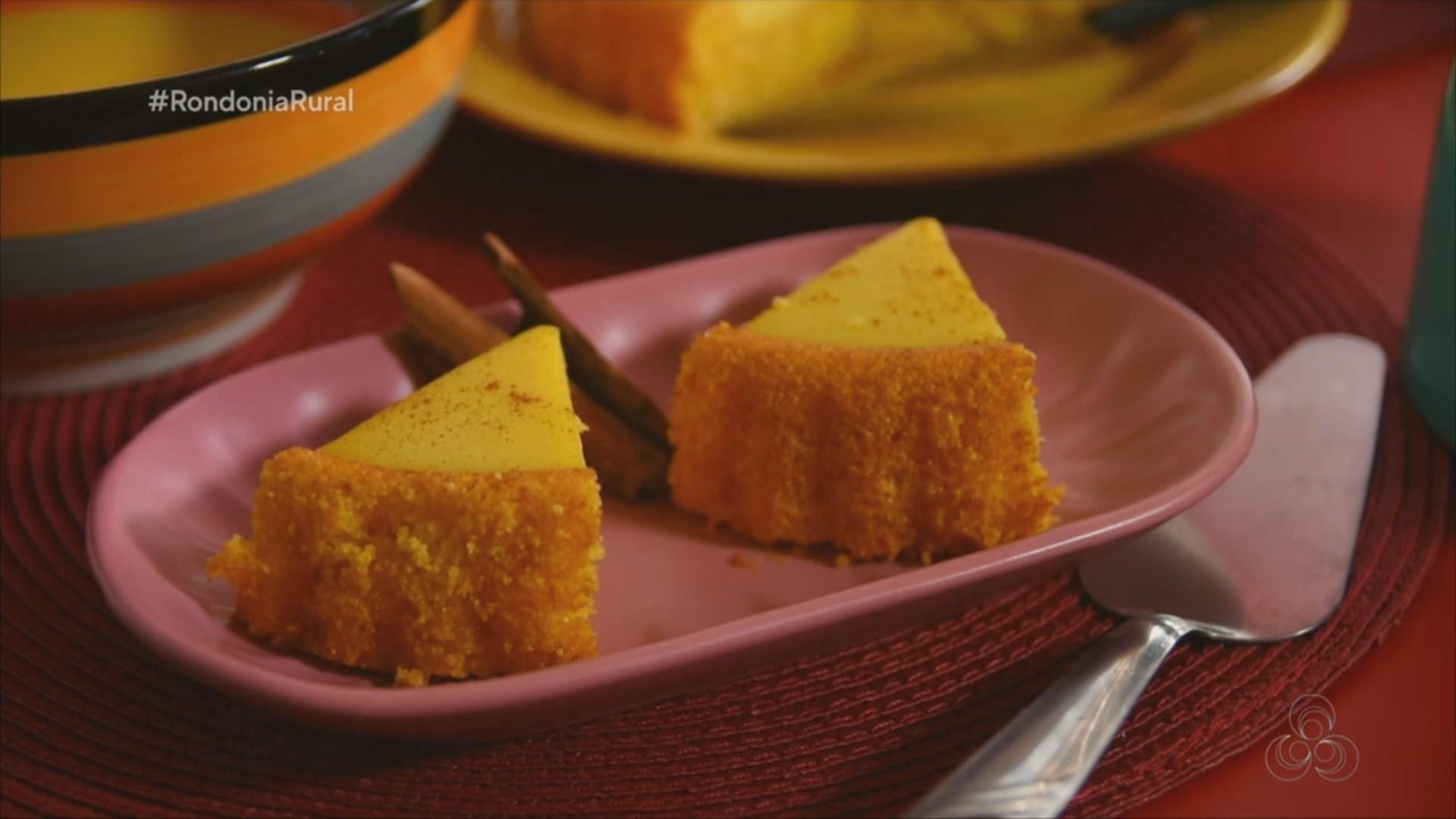 Aprenda a fazer o bolo 'Piscininha de Curau'