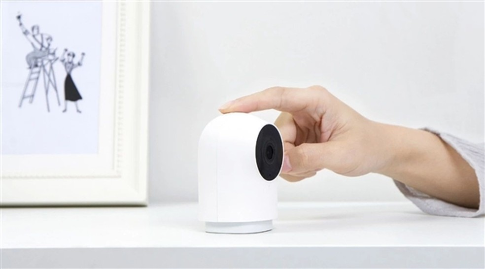 Aqara G2 é compacta e tem visual minimalista — Foto: Divulgação/Xiaomi