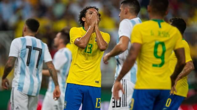 Marquinhos em Brasil x Argentina