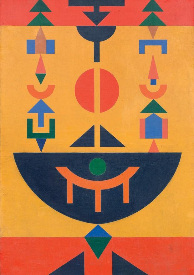 Composição 12, (1962), de Rubem Valentim.  (Foto: Divulgação / Masp e Instituto Tomie Ohtake)
