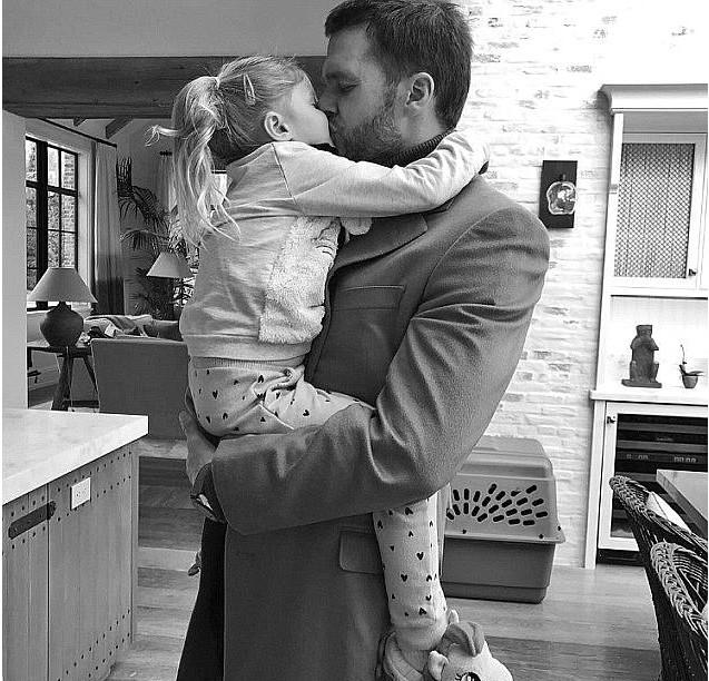 Tom Brady e a filha Vivian (Foto: Instagram)