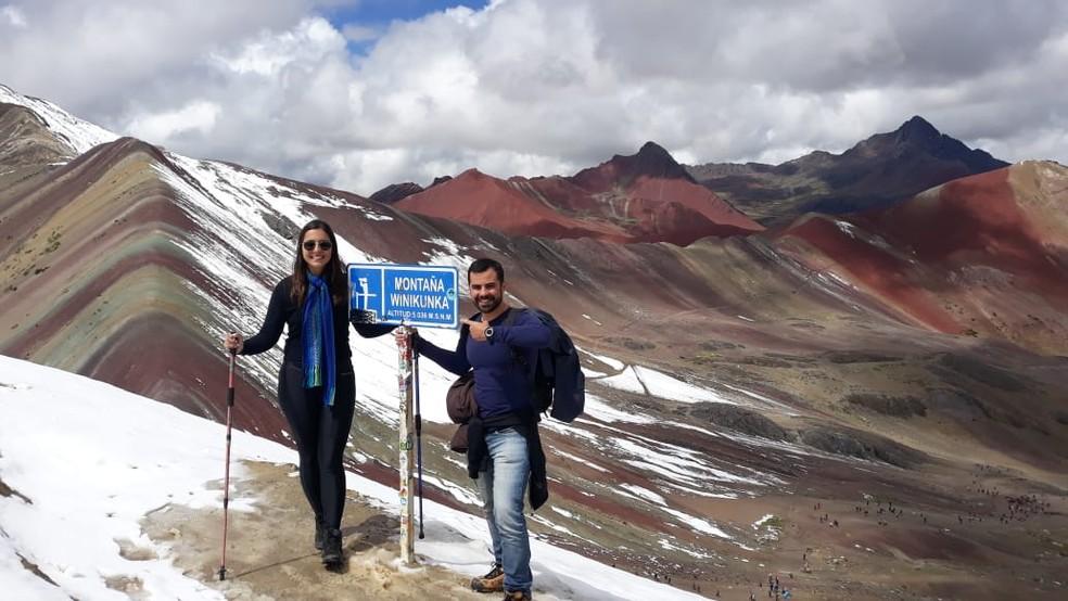 Marjorie e Hecto no Peru — Foto: Cedida