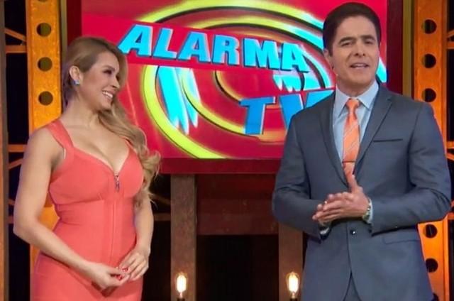 Apresentadores do 'Alarma TV' (Foto: Reprodução)