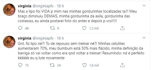 Virgínia Fonseca fala de corpo (Foto: Reprodução/Twitter)