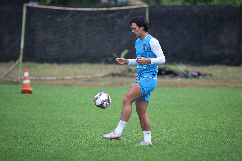 Nicolas vive jejum de gols no Paysandu — Foto: Jorge Luís Totti/Ascom Paysandu