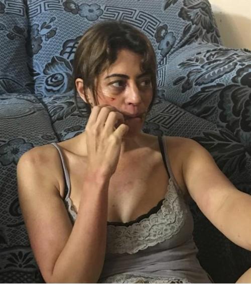 Carol Castro está caracterizada para o filme 'O zelo da morte' (Foto: Divulgação)