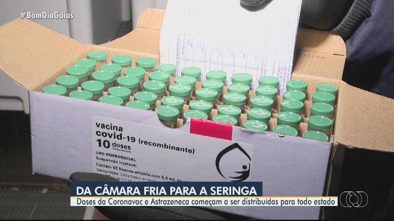 Chegam a Goiás novas doses de vacinas contra Covid-19
