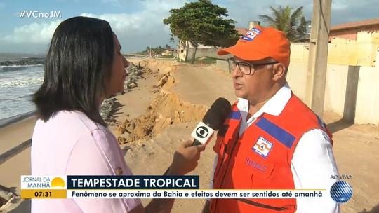 Tempestade tropical: Defesa Civil faz alerta à população e aulas são suspensas em cidades do sul da BA