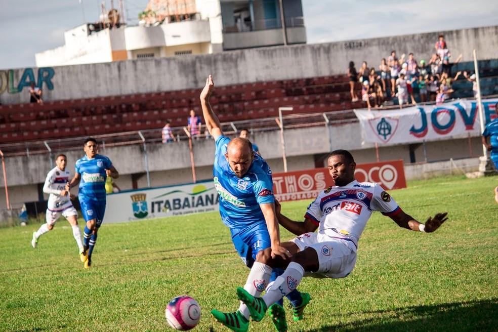 Setor defensivo em alta: Itabaiana não sofreu gols neste hexagonal (Foto: Wendell Rezende/AOItabaiana)