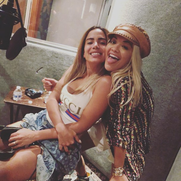 Anitta e Rita Ora (Foto: Instagram/Reprodução)