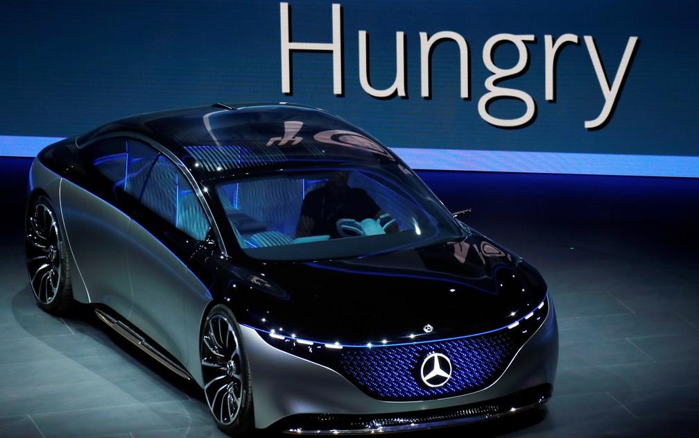 Mercedes EQS, conceito elétrico da marca alemã — Foto: Ralph Orlowski/Reuters