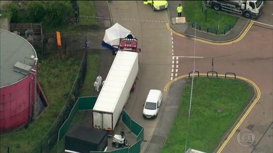 Polícia inglesa encontra caminhão com 39 corpos