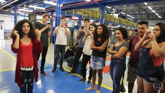 Participantes do Globo Lab visitam a cidade cenográfica de Malhação - Viva a Diferença