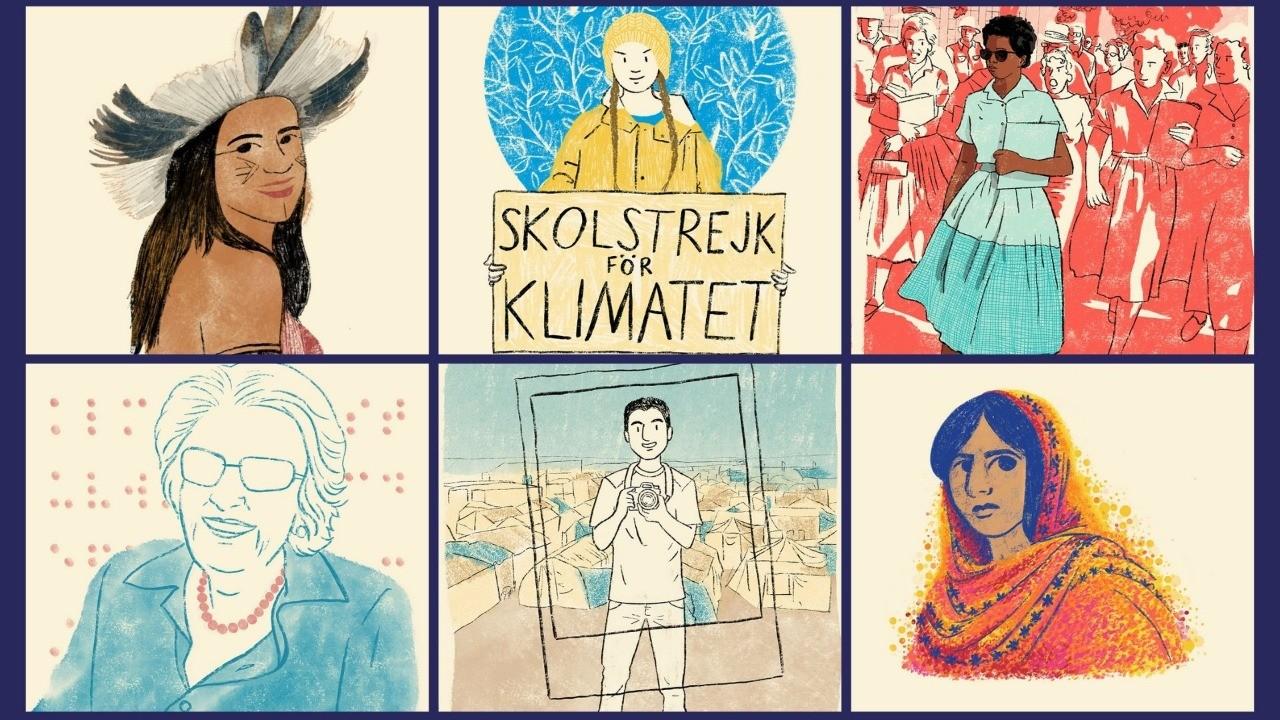 Malala, Greta e Dorina Nowill: livro retrata estudantes que se destacaram pelo esforço a uma causa