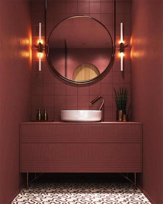 10 lavabos decorados de um jeito moderno casa vogue for Lavabo profundo