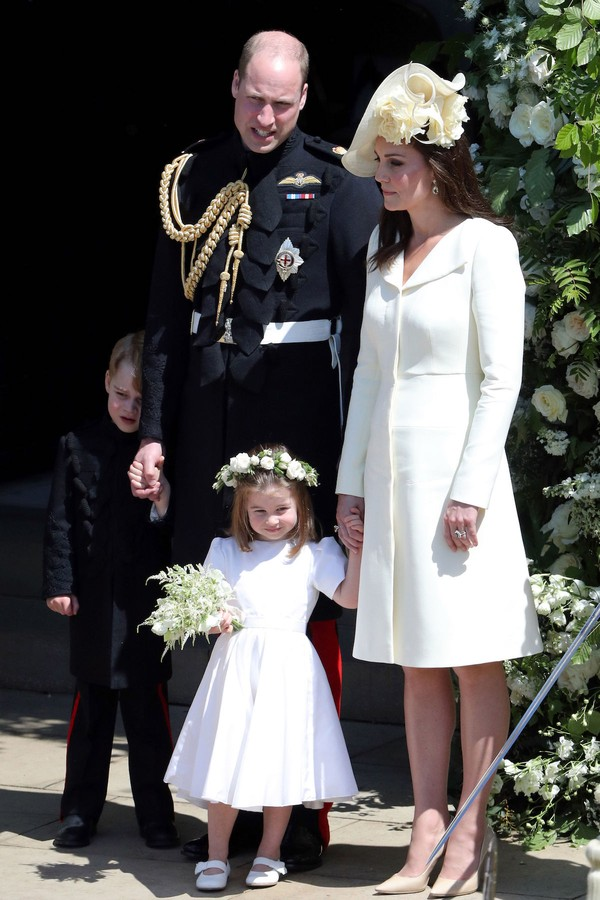 Kate Middleton com o Príncipe William e os filhos no casamento do Príncipe William (Foto: Getty Images)