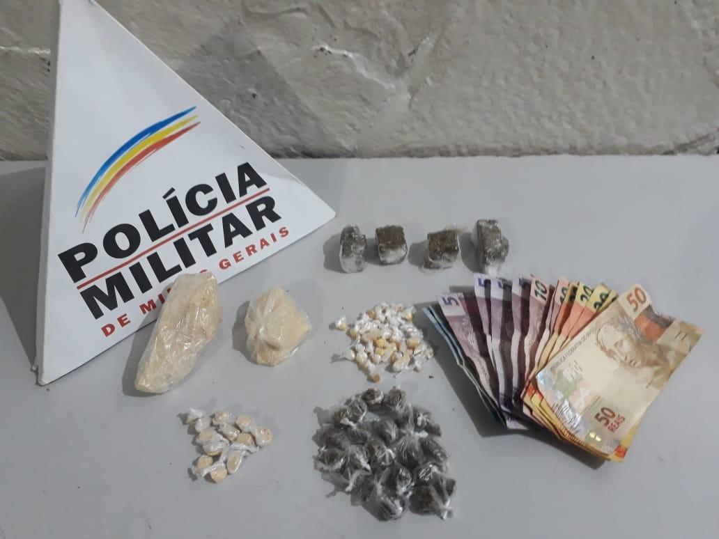 Jovens são presos por tráfico de drogas em Montes Claros; cadela farejadora auxiliou na ação