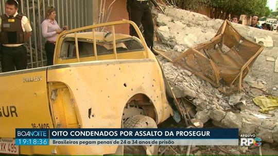 Oito brasileiros são condenados por envolvimento no mega-assalto à Prosegur, no Paraguai