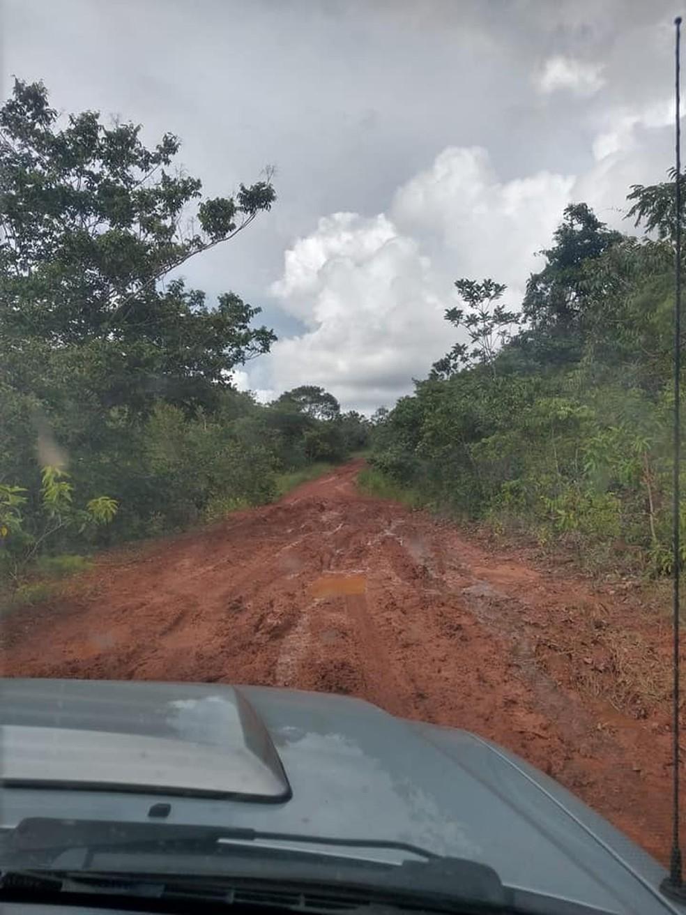 Chuva também provocou atoleiros, segundo o prefeito. — Foto: Reprodução