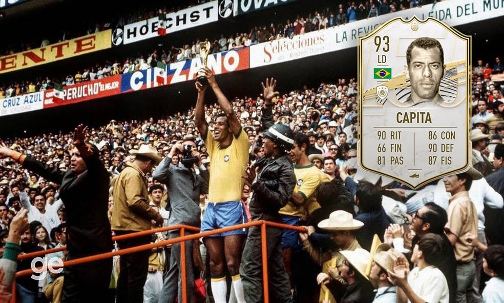 Capita no FIFA 21: Carlos Alberto Torres é o melhor lateral direito do jogo — Foto: Reprodução