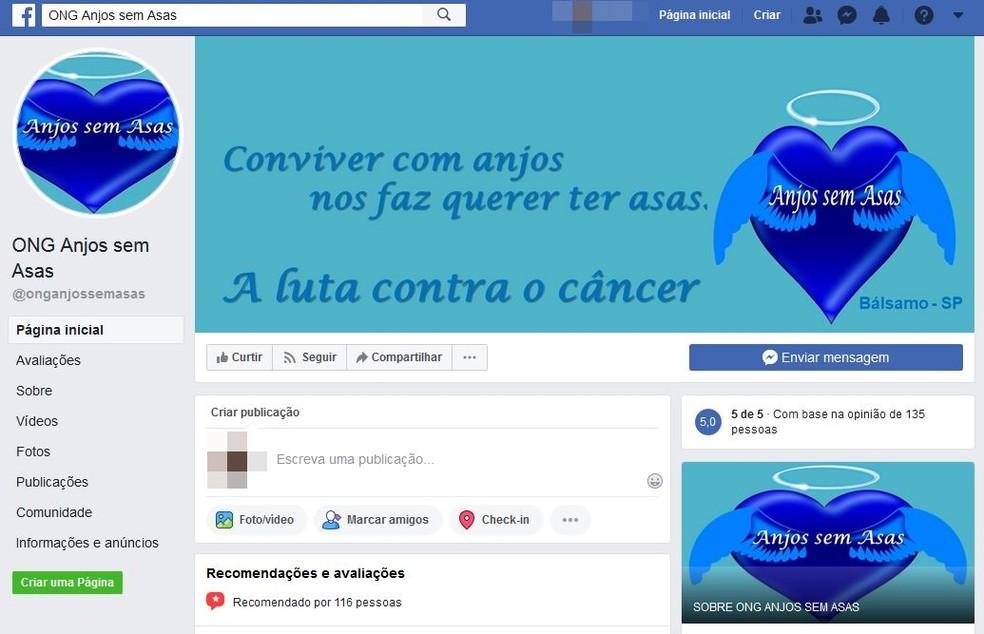 ONG Anjos sem Asas ajuda famílias de todo o país durante o tratamento de crianças com câncer — Foto: Reprodução/Facebook/Anjos sem Asas